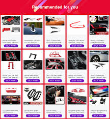<b>1PC Carbon Fiber Red</b> ABS Central Air Condition Trim For Honda ...