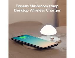 <b>Baseus Mushroom Lamp</b> Desktop QI Wireless Charger