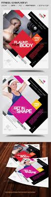 fitness gym business promotion flyer v graphics promotion and gym promotional flyer template by satgur design studio diagonals and asymmetry create energy
