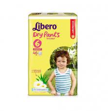 Купить Трусики-<b>Подгузники Libero Dry</b> Pants № 6 13-20кг 46шт с ...
