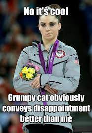 McKayla's reaction to grumpy cat : pikdit via Relatably.com