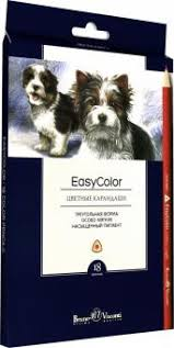 """<b>Карандаши</b> цветные ""Easycolor"" (18 цветов, трехгранные) (30 ..."