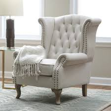 living room furniture miami: living room grey large modern accent occasional chairs belham tatum tufted arm chair with silver nailed