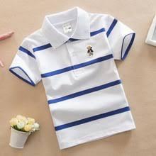 <b>Детская</b> полосатая <b>рубашка</b>-<b>поло</b> с короткими рукавами для ...