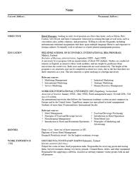 examples of resumes resume top objectives inside  examples of resumes resumes examples resume template 12 stunning resume template throughout basic resume