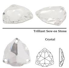 Crystal and AB Genuine K9 Crystal 3272 Trilliant Sew On Stones ...