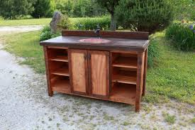 washstand bathroom pine: handsome bathroom vanity with copper sink rustic heart pine and antique wood zoom