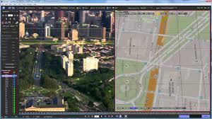 using google maps as a reference mesh