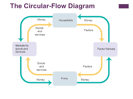 circular flow and gross domestic product    objective  what is the    the circular flow diagram money factors goods and services factors households firms markets for goods