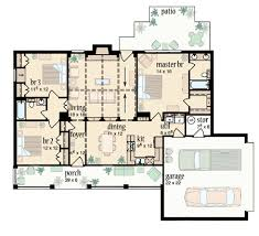 Split Bedroom Ranch Design   JH   st Floor Master Suite    Floor Plan