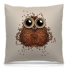 """Подушка 40х40 с полной запечаткой """"Кофе для <b>совы</b>"""" #2815231 ..."""