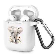 Airpods Case Personalized White <b>TPU Soft</b> Rubber Accessories Full ...