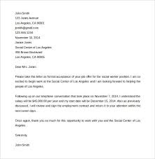 Accept Job Offer Email  letter templates  board of and templates     Template net