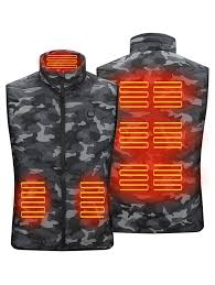 <b>Smart 5 Zones Heating</b> Camouflage Padded Vest for Men and Women