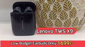 <b>Lenovo X9</b> True Wireless Earbuds | Unboxing & Review With Audio ...