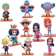 10Pcs 10cm One Piece Figurine Dolls Children Kids Toys Deck ...
