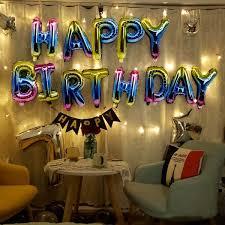 <b>13pcs</b>/<b>set</b> Happy <b>Birthday Balloon</b> Air Letters Alphabe Rose Gold ...