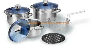 China Manufacture <b>High Quality 8PCS</b> Stainless Steel Cookwares ...