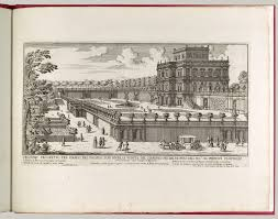 from to gardens in the court of louis xiv and after view of the side facade of the palazzo pamphili and its garden secondo prospetto per