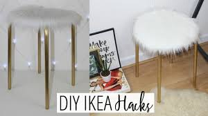 DIY <b>FAUX FUR STOOL</b> - EASY & AFFORDABLE! | Ikea Hacks Ep. 1 ...