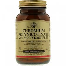 Полиникотинат <b>хрома</b>, Solgar, 200 <b>мкг</b>, 100 вегетарианских ...