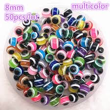Online Shop New Jewelry Resin Spacer Beads Ball <b>Mixed Evil Eye</b> ...
