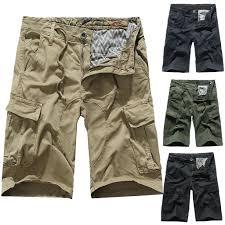 <b>Men's Summer</b> Casual Fashion Mid-rise Shorts Loose Multi-pocket ...