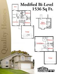 Karleb Homes Ltd   Drayton Valley Home PlansModified Bi Level Sq Ft plans