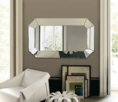 living room  unique modern wall mirror for living room oktagono