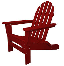 recycled plastic classic adirondack sunset red beach style patio furniture