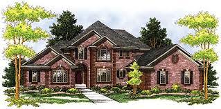 Brick two story Home Plan   AH   st Floor Master Suite  CAD    Plan AH ArchitecturalDesigns com