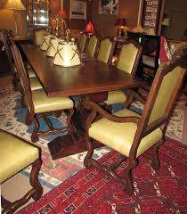 Old World Dining Room Sets Collection Reproduction Old World Bench Made Dining Table With 12
