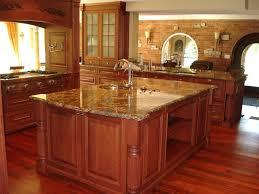kitchen worktops ideas worktop full:  kitchen varnished hardwood flooring yellow granite worktop kitchen island faucet sink brick wall glass