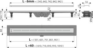 Водоотводящий желоб с <b>решеткой</b> Simple APZ18 550M Alcaplast