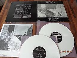 """<b>NIRVANA</b> """"BLEACH"""" - <b>Vinyl 2 Lp</b> - 2009 - Sp834 - White Wax ..."""