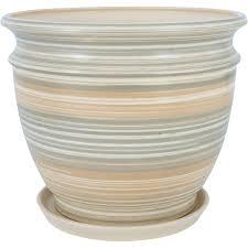 <b>Горшок</b> цветочный «Уют» серый 7.7 л 290 мм, <b>керамика, с</b> ...