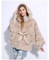 <b>JKKFURS</b> New Women's Real Rabbit Fur Coat <b>Fashion</b> Luxury <b>Style</b> ...