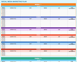 microsoft office templates smartsheet social media marketing plan template