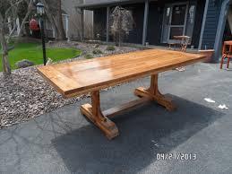 ideas trestle dining tables pinterest