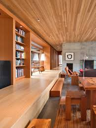 room view modern wooden home