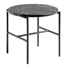 Hay Rebar <b>side table 45 cm</b>, black marble | Finnish Design Shop