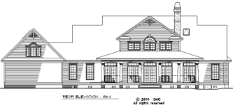Rear Elevation of The Hollyhock   House Plan Number   Favorite    Rear Elevation of The Hollyhock   House Plan Number   Favorite Recipes   Pinterest   House plans  Numbers and House