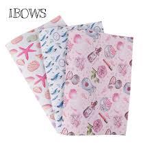 22cm*30cm Leather Fabric Sheet Cute <b>Unicorn</b> Starfish Printed Pu ...