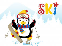 <b>Skiing penguin</b> cartoon Vector | Premium Download