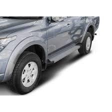 "<b>Пороги</b> алюминиевые ""<b>Silver</b>"" <b>Rival для</b> Mitsubishi L200 IV, V 2006 ..."