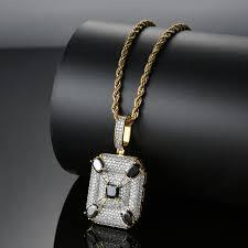 <b>Wholesale Copper Micro Pave</b> CZ Shining Block Pendant&Necklace ...