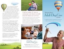 barren river adult daycare brochure warp design adult daycare outer spread