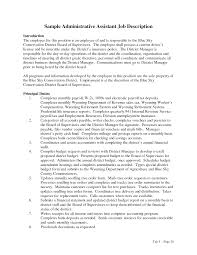 Sample Administrative Assistant Duties Resume Job Description ... sample administrative assistant duties resume job description : assistant job description
