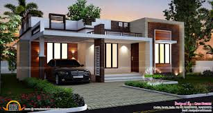 Beautiful small house plans   Kerala home design and floor plansFlat roof single floor home