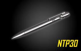 NITECORE NTP30 <b>Titanium</b> Bidirectional Bolt Action <b>Tactical Pen</b>